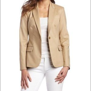 Vince Camuto Tan Blazer with Gold Buttons